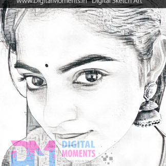 custom digital sketch avatar